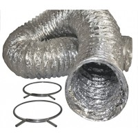ALUMINUM DRYER FLEX HOSE & CLAMPS
